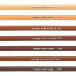 caixa lápis cor 12 tons pele