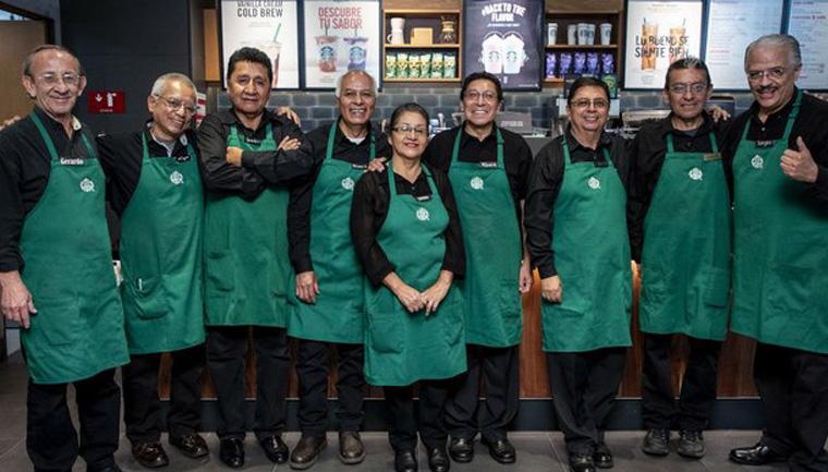 loja starbucks méxico operada funcionários mais velhos