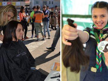 Menina campanha confeccionar perucas mulheres câncer