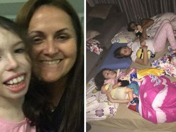 professora faz noite pijama filha amiga paralisia cerebral