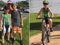 garoto empresta bicicleta menino participar corrida