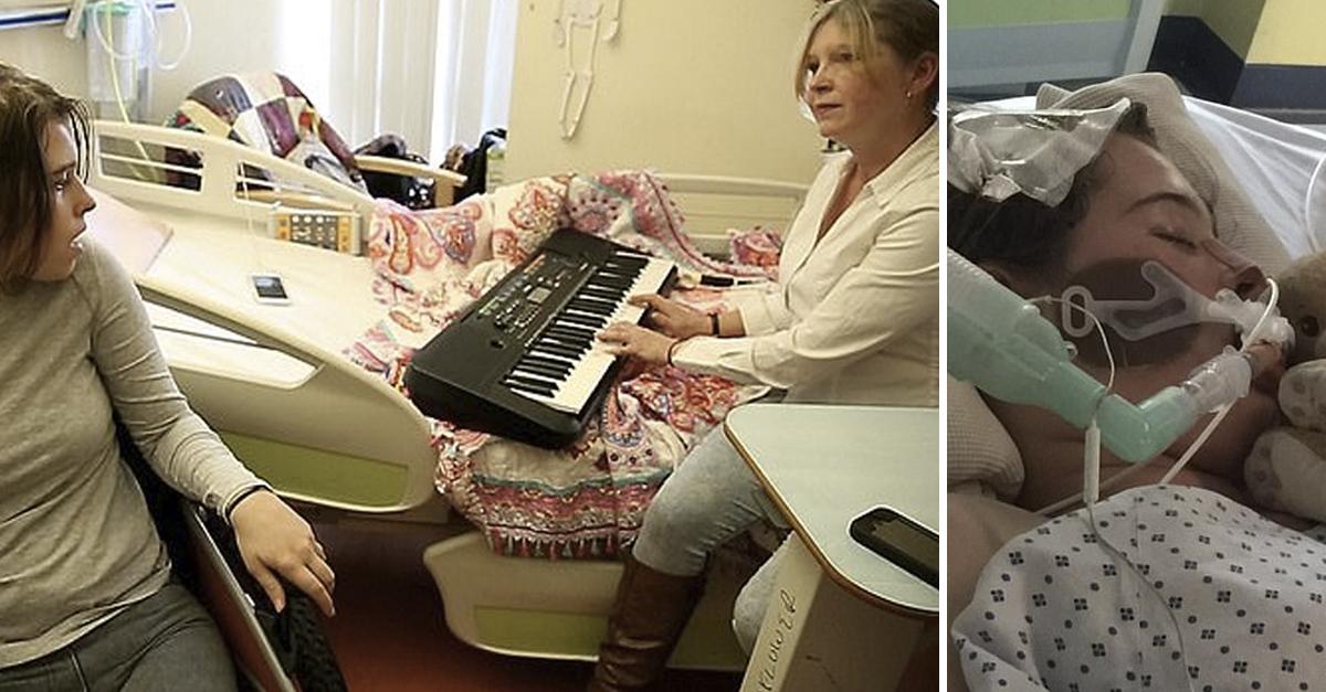 Garota com Síndrome do Encarceramento acorda após sua mãe tocar piano 3