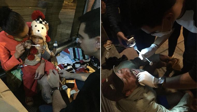 estudantes odontologia atendem moradores rua