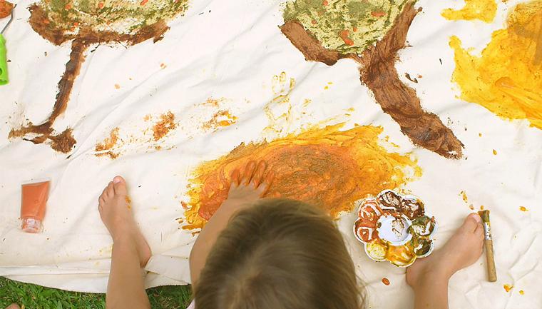 erva-mate vira tinta orgânica crianças