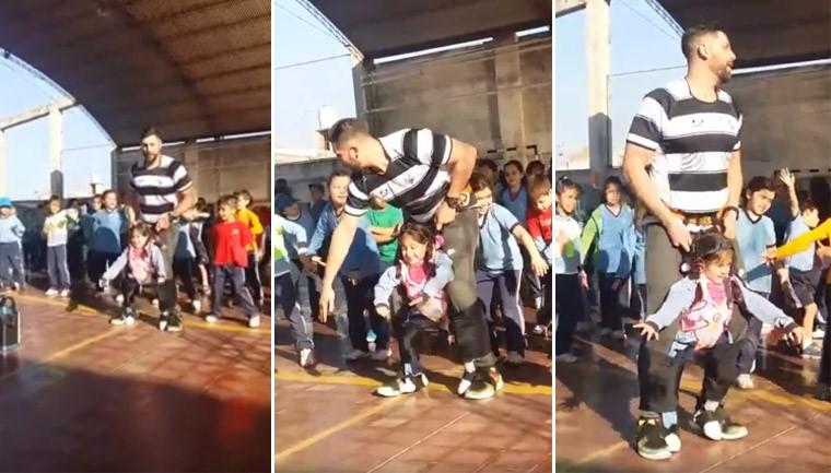 professor criatividade aluna deficiência dançar apresentação escola