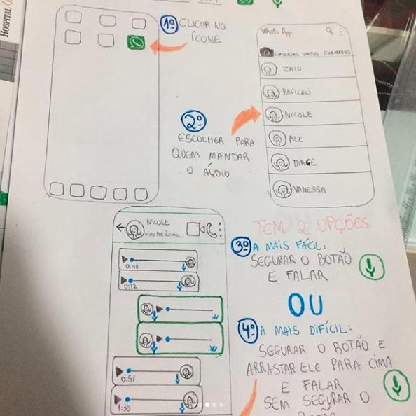 Estudante cria manual para avó de namorada mexer no WhatsApp 2