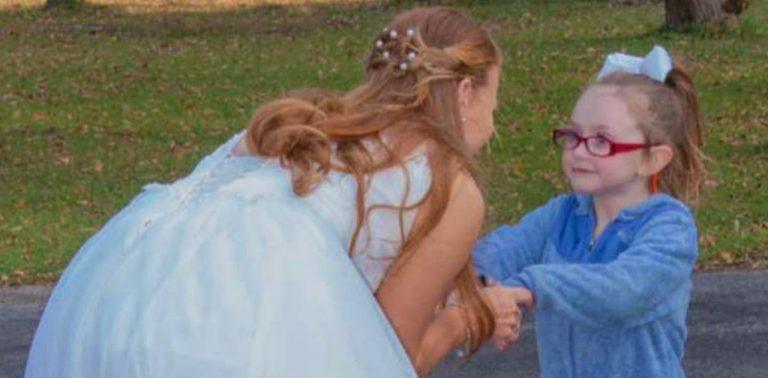 Menina autista confunde noiva com Cinderela e sua reação é linda!