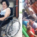 Idosa que era carregada por motorista ganha cadeira de rodas
