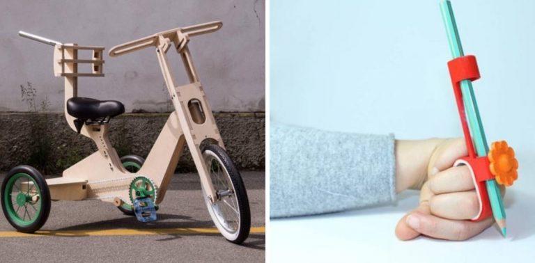 Designers criam bicicleta e lápis para crianças com deficiência