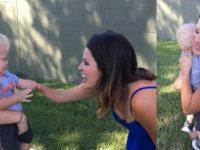 Menino de 1 ano abraça desconhecida ao reconhecer nela a mesma condição que ele tem