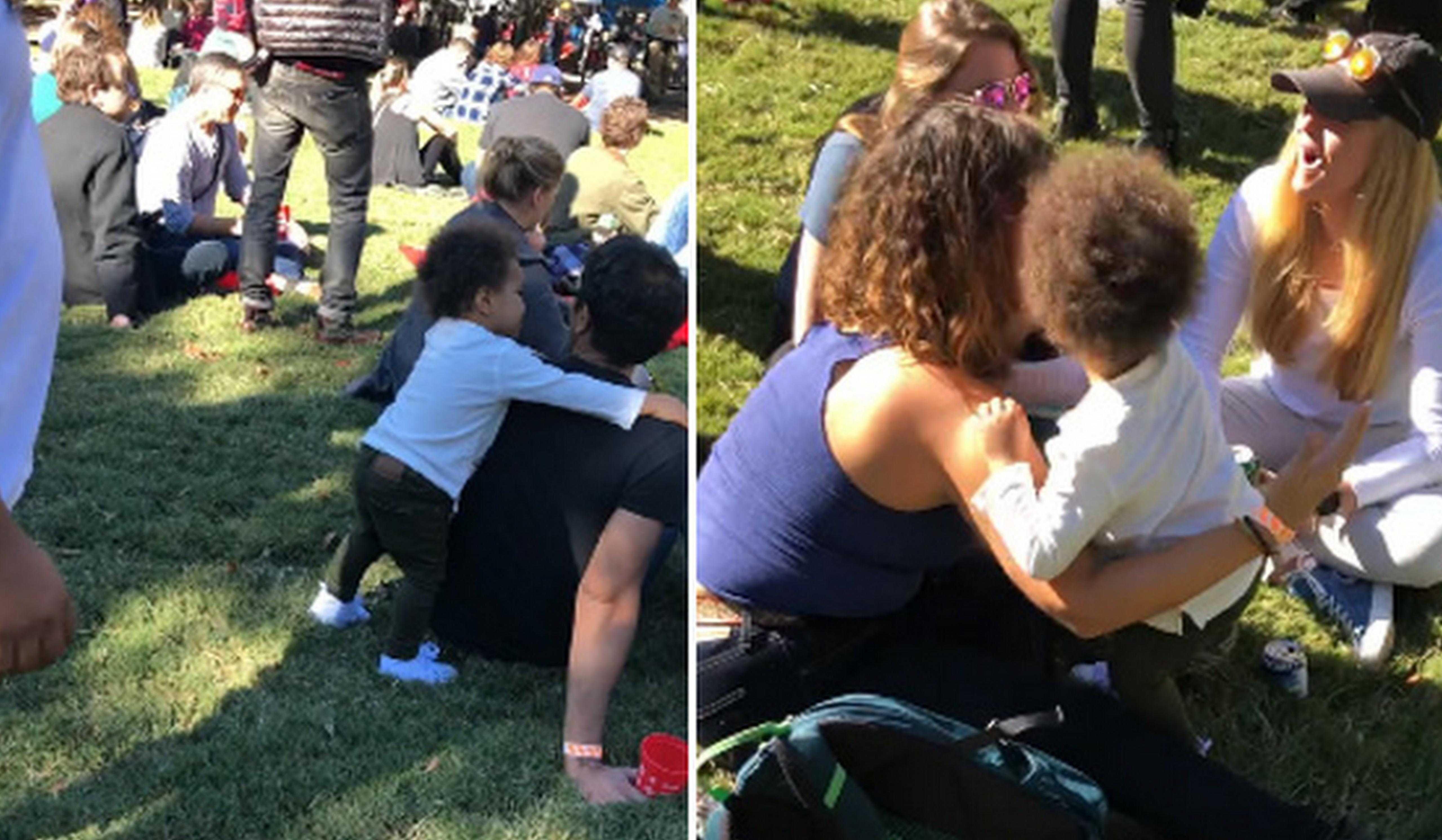 Garotinha dá 'tchau' e abraça desconhecidos antes de ir embora de evento 2