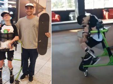 skatista skate menino paralisia cerebral