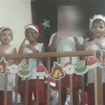 alunos cantata natal libras colega surdo participar
