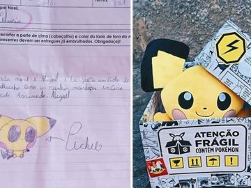 """Fãs dão """"Pichu"""" de Pelúcia a menino atendendo seu pedido em cartinha ao Papai Noel 1"""