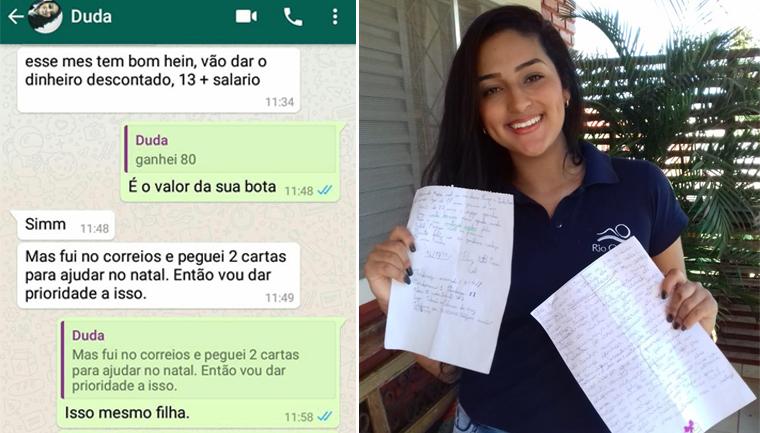 adolescente usa 13 salário realizar pedidos de natal crianças carentes