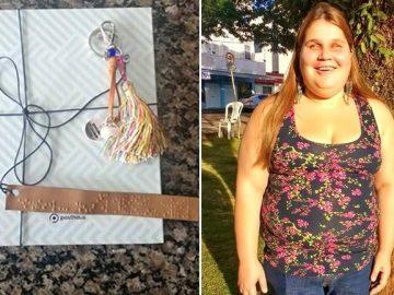 loja roupas envia cartão braille cliente cega