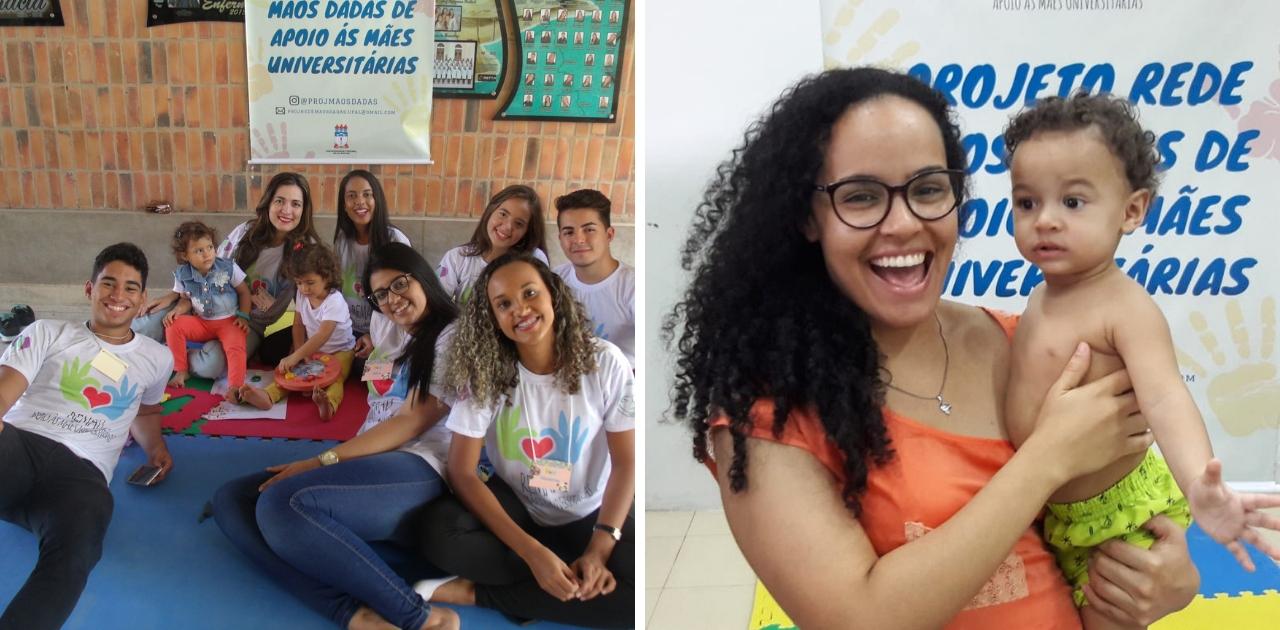 Projeto voluntário permite que universitárias deixem filhos com cuidadores durante aulas em universidade