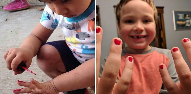 Garoto de 5 anos é atacado por pintar unhas mas é apoiado online