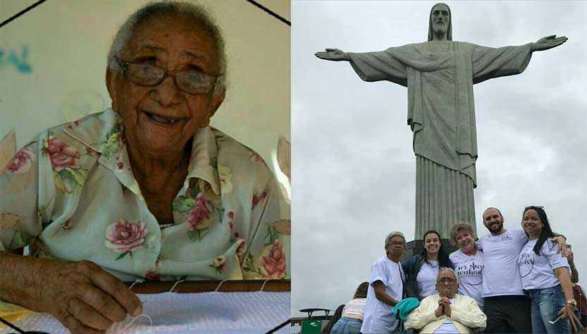 Desconhecidos ajudam nordestina de 96 anos a conhecer o Cristo 2