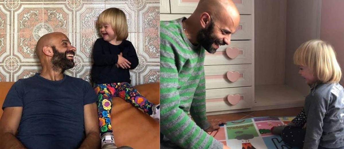 Solteiro adota menina com Down rejeitada por vinte famílias 5