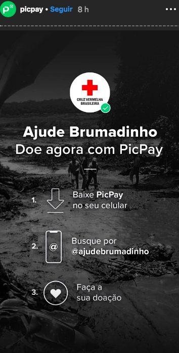 ajudar as vítimas de Brumadinho picpay