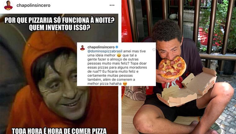 domino's distribui pizzas moradores rua