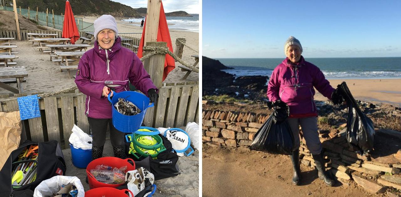Vovó de 70 anos passa o ano tirando o lixo de 52 praias