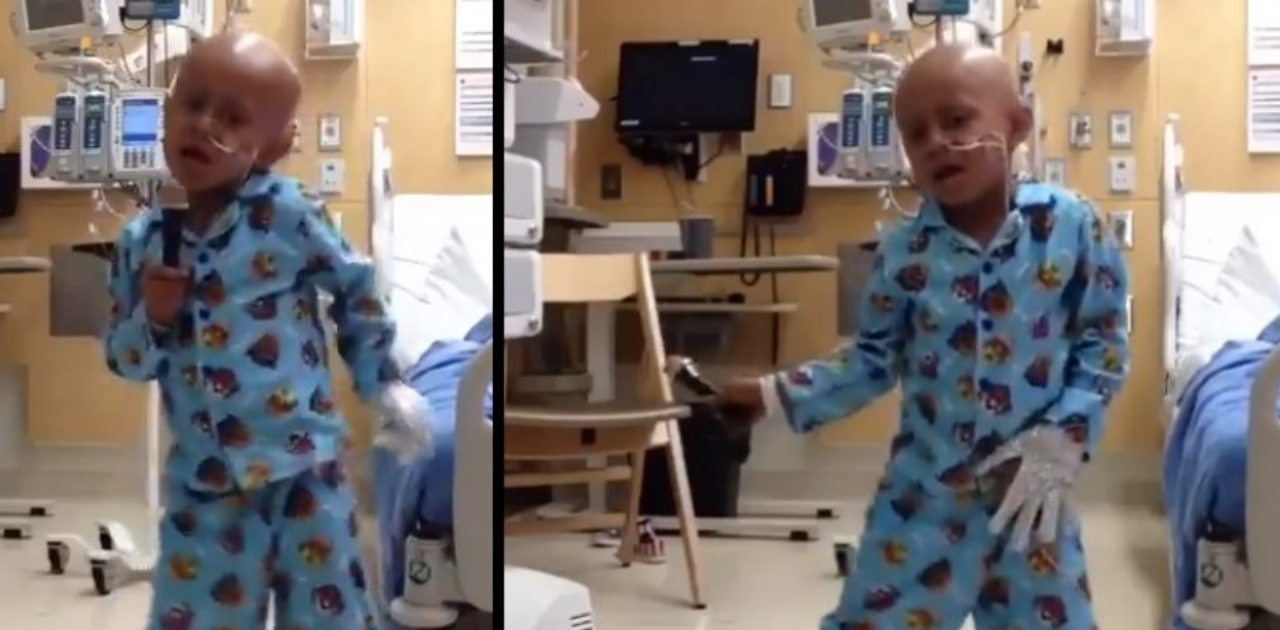 Menino comemora fim do câncer dançando Michael Jackson