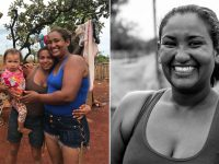 gari responsável sobrevivência famílias ocupação reencontra filhas irmãs