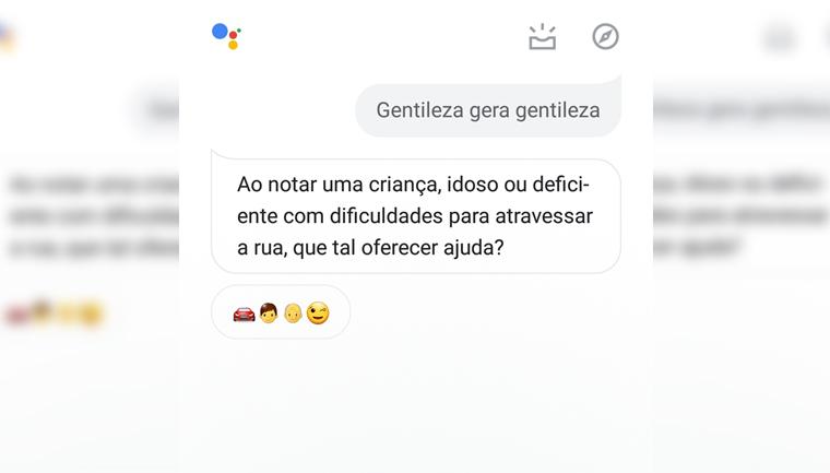 google assistente gentileza gera gentileza