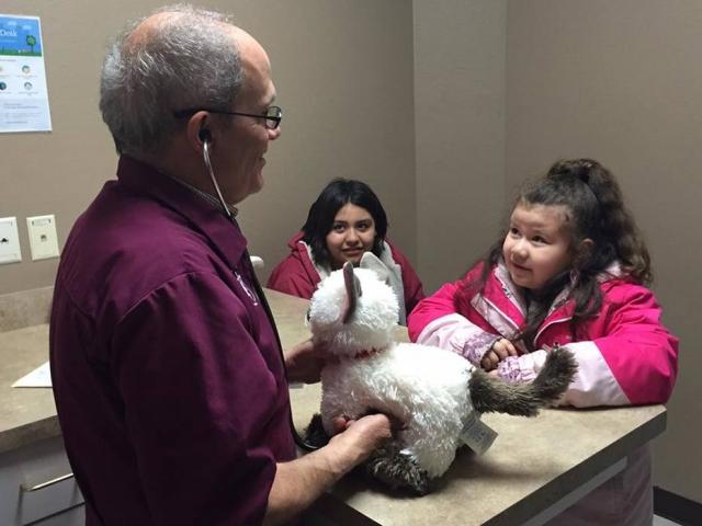 Menina autista leva seu gato de pelúcia ao veterinário e emociona internautas