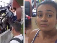 mulher salva motorista tragédia matou boechat