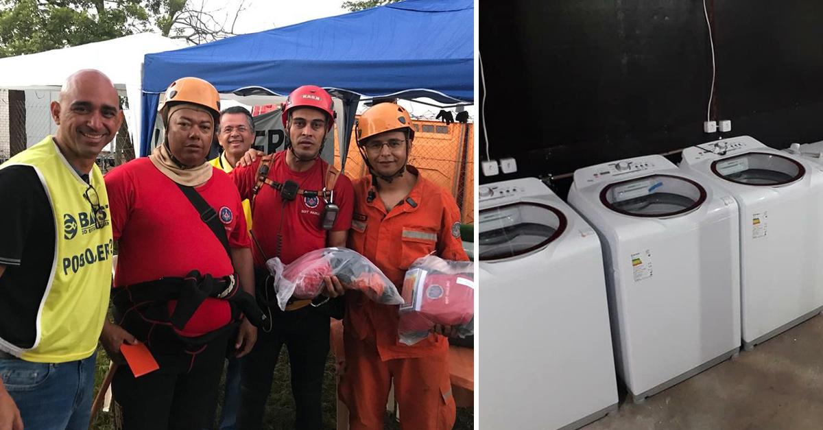 Voluntários se unem para lavar as roupas das equipes de busca em Brumadinho 2