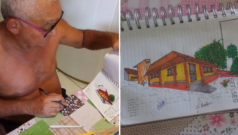 senhor 61 anos aprende fazer desenhos youtube