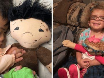 Mulher cria bonecas com as mesmas características físicas de seus pequenos donos