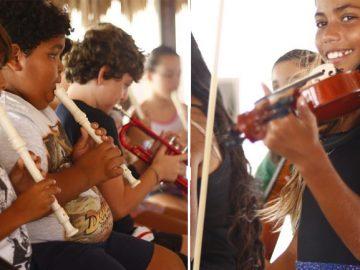 meninas tocando orquestra jeri ceará