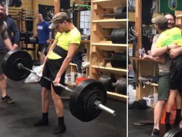 jovem paralisia cerebral levanta quase 100 kg bate recorde