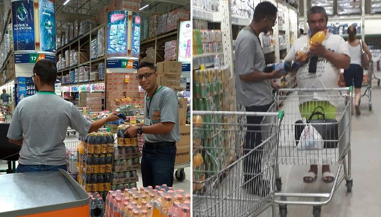 Funcionário de supermercado surpreende pela paciência em atendimento com deficiente visual em Praia Grande 2