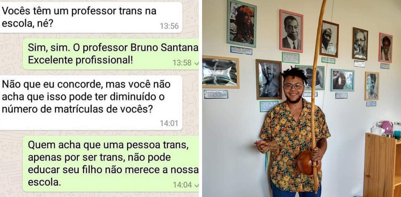 Escola de Salvador é aclamada nas redes sociais por defender professor trans e valorizar representatividade