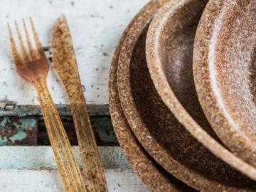 Empresa cria pratos, copos e talheres biodegradáveis feitos a partir do farelo de trigo