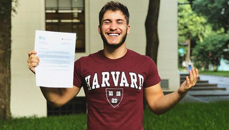 estudante carta agradecimento doador estudar harvard