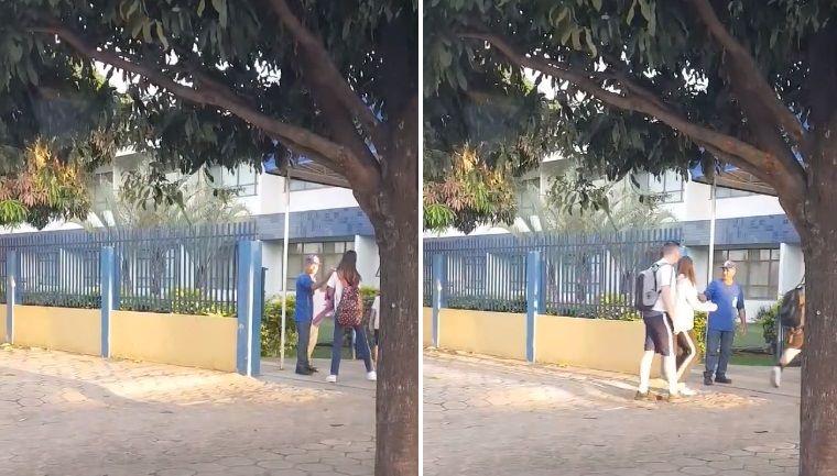 Porteiro vira sucesso após gesto de gentileza em escola em Sinop, no Mato Grosso 1