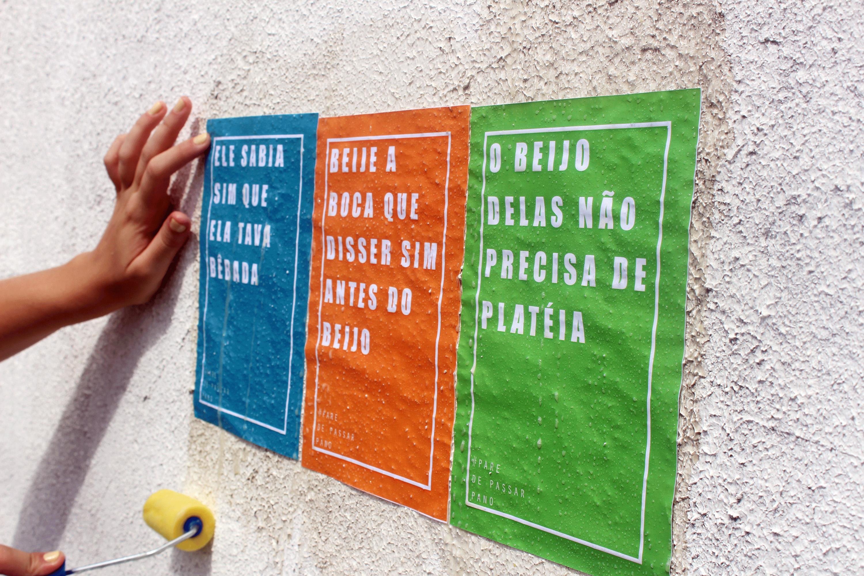 projeto lambes questiona machismo, homofobia, sexismo