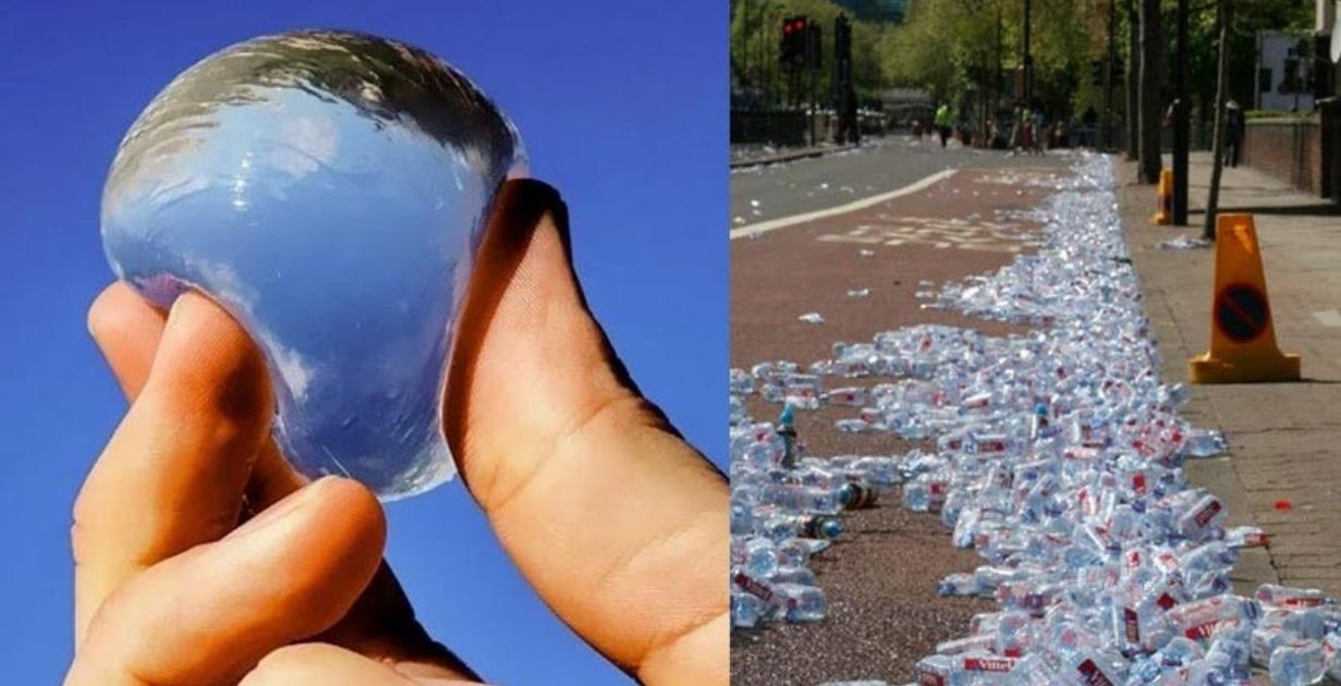 Maratona de Londres substitui garrafas plásticas de água por algas comestíveis