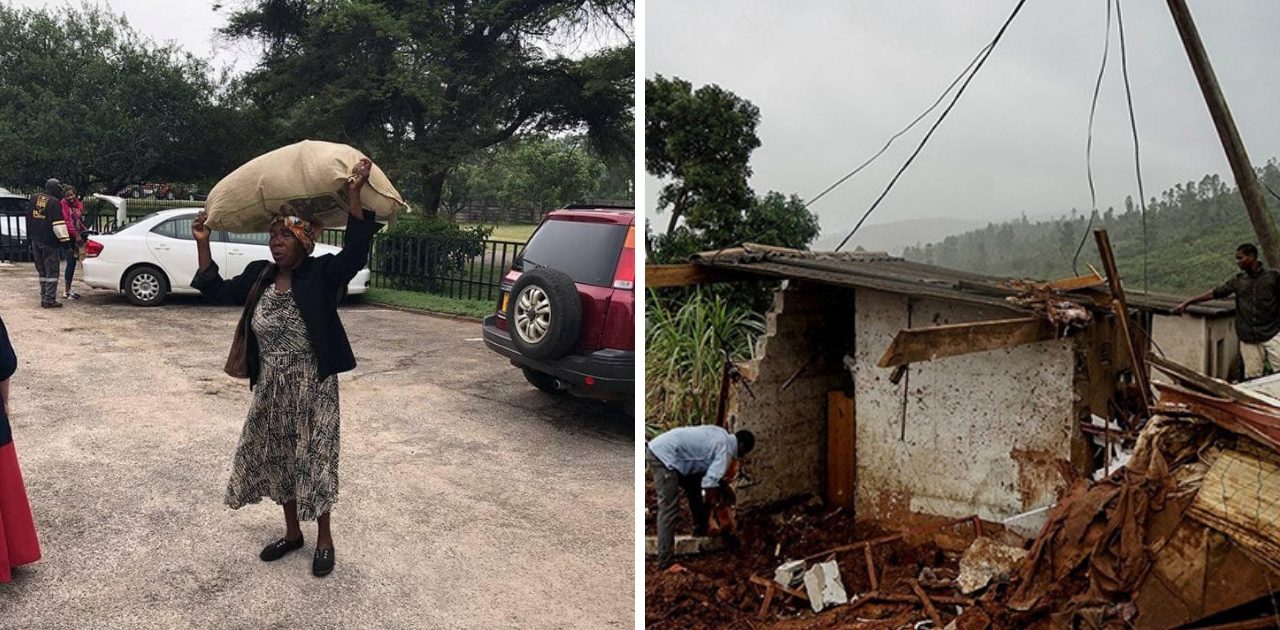Bilionário recompensa senhora que andou 16 quilômetros para ajudar vítimas de ciclone