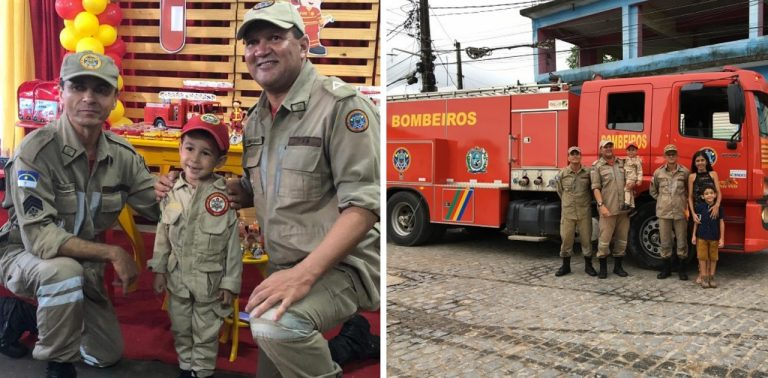 Bombeiros realizam sonho de criança em Itambé