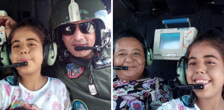 Para não perder transplante, motorista faz apelo à PM e Águia leva menina a hospital em SP
