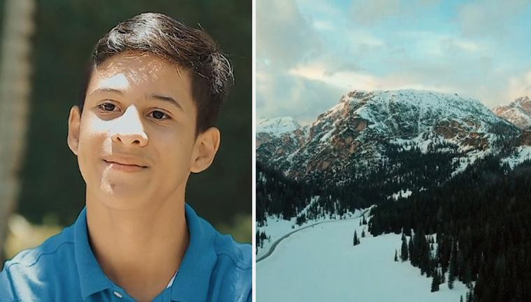 menino paralisia cerebral escalar montanha