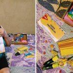 idosa alzheimer ganha kit lápis amarelo