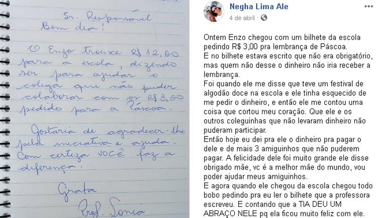 mãe dinheiro amigos filho lembrancinha páscoa escola